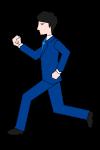 走る会社員のイラスト